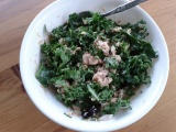 Desperation Dinner: Salmon & Kale Salad