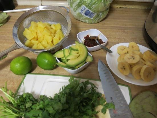 Tacos de Lengua Mise en Place