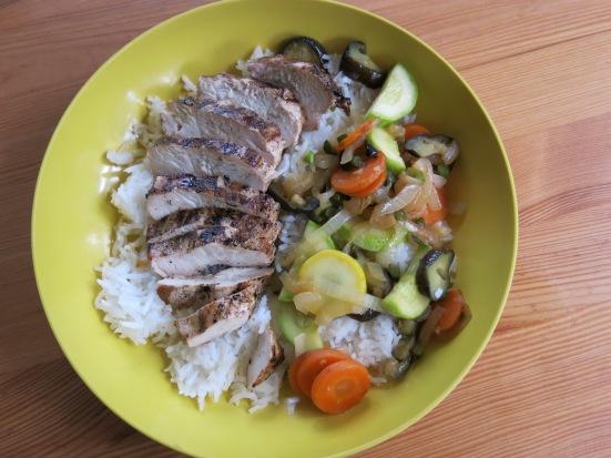 Grilled Chicken and Stir Fry Veggies