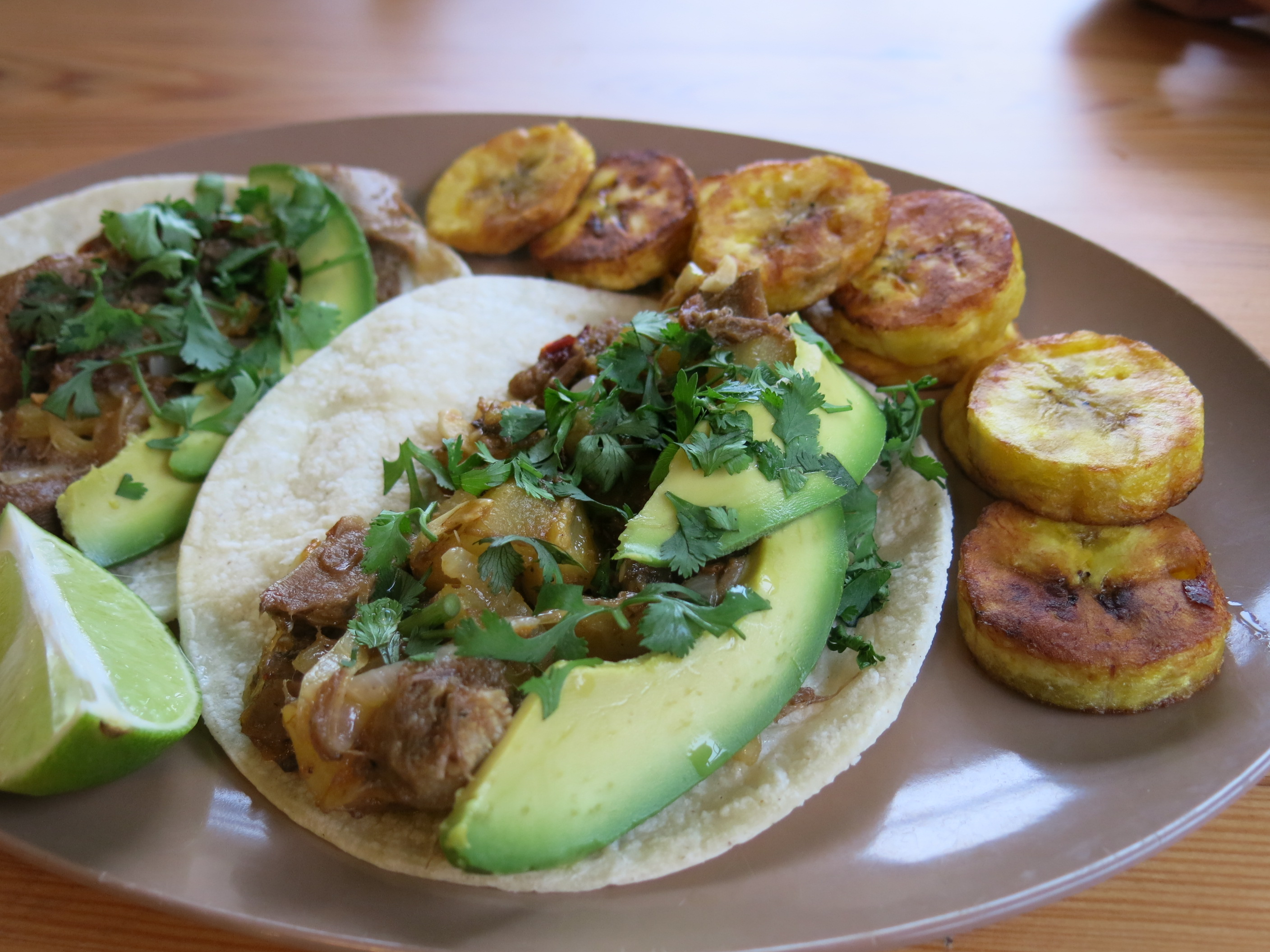 Tacos de Lengua al Pastor (Beef Tongue Tacos with Pineapple)