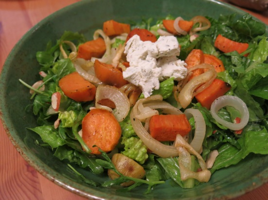 Truffled Arugula & Sweet Potato Salad