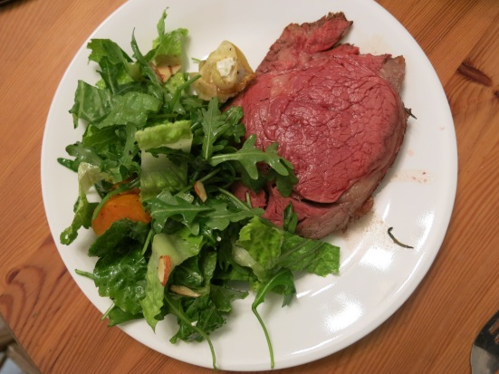 Salad and Rib Roast