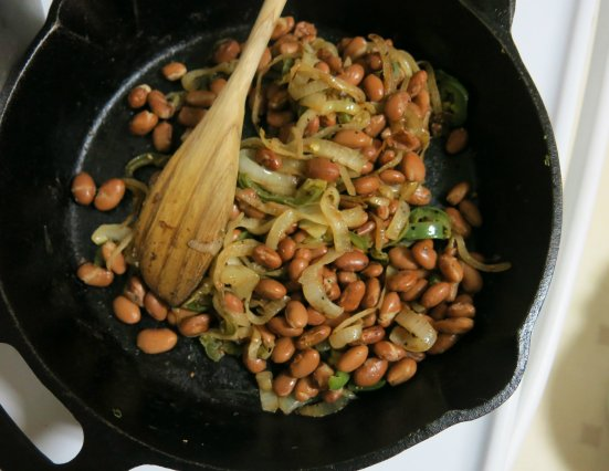 Skillet Beans and Onions