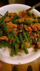 Curried Pork & Green Beans